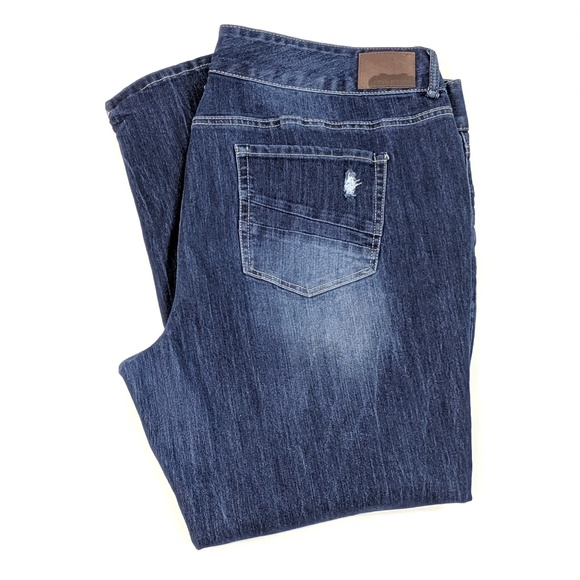 Maurices Denim - Maurices Plus Destroyed Faded Jeans Stretch